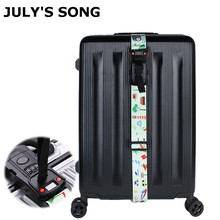 JULY'SONG Travel Weighing Scale Password Luggage Strap Adjustable And Multifunctional Suitcase Belt Sturdy Travel Accessories july song travel weighing scale password luggage strap adjustable and multifunctional suitcase belt sturdy travel accessories