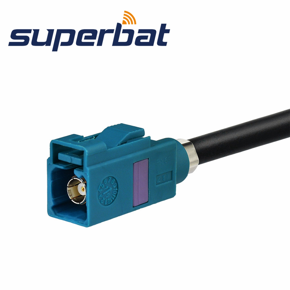 Image 2 - Superbat Universal Fakra Male Plug to Jack Female Aerial Antenna DAB + Splitter Adapter SMB Car Radioantenna dabdab aerialantenna female - AliExpress