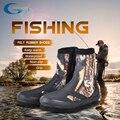 YONSUB 5 мм ботинки для дайвинга из неопрена износостойкая обувь для верховой езды Нескользящая рыболовная обувь камуфляжная сохраняющая тепл...