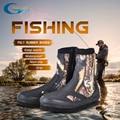 YONSUB 5 MM de buceo neopreno botas resistente al desgaste arriba zapatos antideslizantes pesca zapatos camuflaje mantener agua caliente zapatos Deportivos