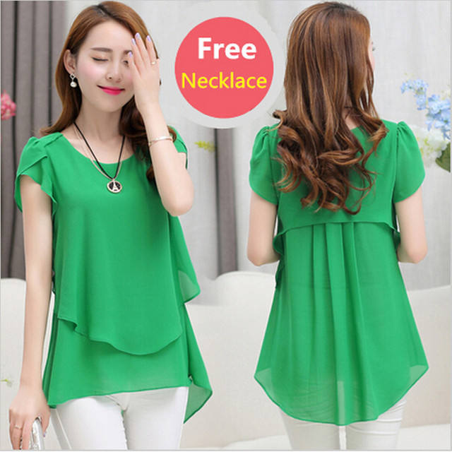 Aliexpress.com : Buy 2016 Summer Plus size women chiffon blouses ...