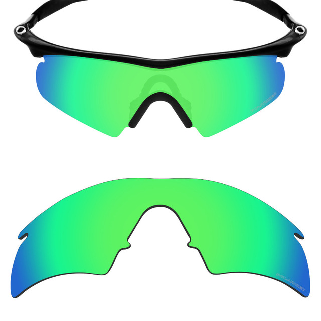 8a7c47a499 Mryok+ POLARIZED Resist SeaWater Replacement Lenses for Oakley M Frame  Hybrid Sunglasses Emerald Green