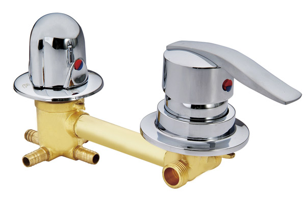 цена на Copper shower room mixing valve, shower cabin mixer faucet , 2/3/4/5 way water out shower room mixing valve