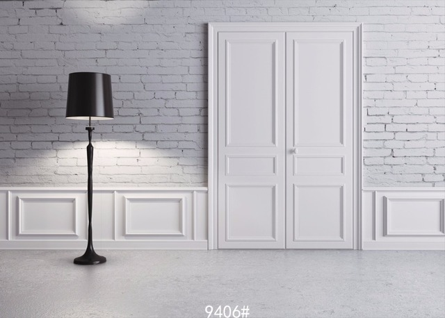 SJOLOON White Wall Photography Backdrops Background For Photo Studio 12x8ft Backdrop