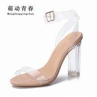 Damskie Sandały 2017 Buty Letnie Kobiety Styl PCV Wysokie Obcasy Sandały Damskie Zapatos Mujer Sandalias kobiet Nowej Duży Plus Size 43