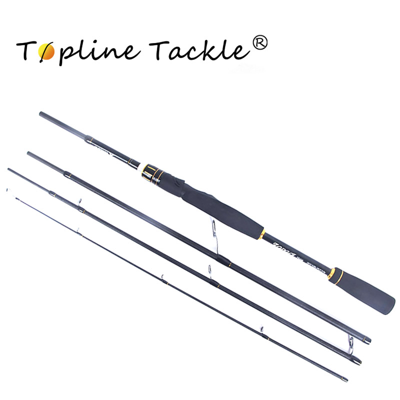 Topline Tackle 2.1m2.4m 100% Carbon Fiber Rod Spinning Fishing Rods Casting Travel Rod 4 Sections Fast Action Fishing Lure Rod tsurinoya 1 89m ul 100% carbon fiber rod spinning fishing rods casting travel rod 4 sections fast action fishing lure rod
