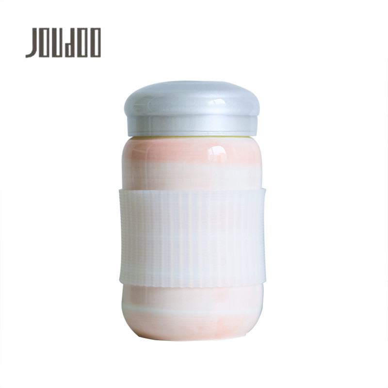 JOUDOO Cute Candy Color Milk Bottle Ceramic Coffee Water Bottles Children School Office Drinking Christmas Gifts