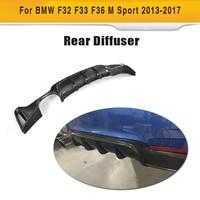 Carbon Fiber Car Rear Bumper Lip Spoiler Diffuser for BMW 4 Series F32 F33 F36 M Sport Coupe Convertible Hatchback 14 17 P Style