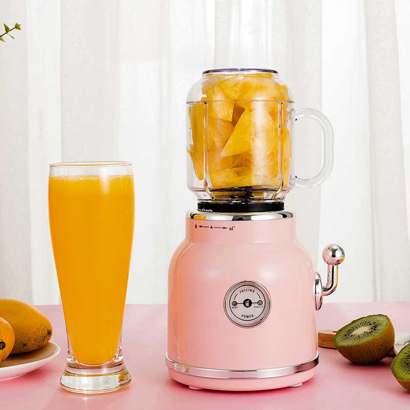 ANIMORE Portátil Liquidificador Espremedor Elétrico Suco de Frutas Misturador Milkshake de Comida para Bebé Moedor de Carne Multifuncional Retro Máquina do Fabricante