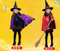 2016 hot Hood Costume Child Halloween Costume Little Red Costume Cloak Stars Fancy Cosplay for Girls S9018