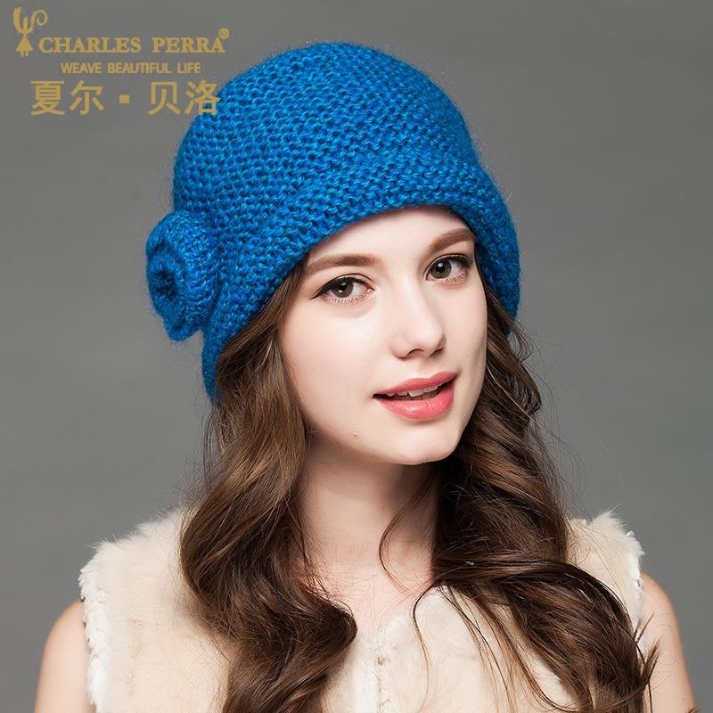 Charles Perra Women Hats Caps 2019 NEW Ձմեռ տրիկոտաժե - Հագուստի պարագաներ - Լուսանկար 2