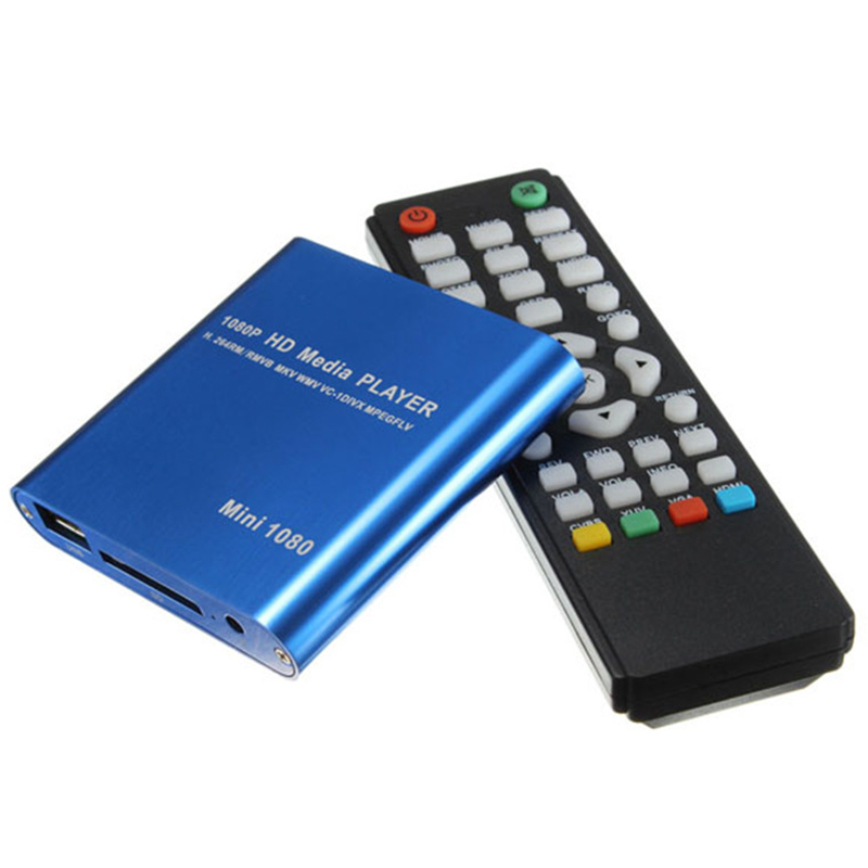 Eu Plug 1080P Mini Hdd Media Player Hdmi Av Usb Host Full Hd With Sd Mmc Card Reader Support H.264 Mkv Avi 1920x1080p 100Mpbs(
