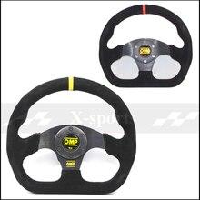 OMP автомобиль Спорт Руль гоночный Тип Высокое качество Универсальный 13 дюйм(ов) 320 мм алюминий + замша желтый, красный