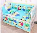Promoção! 6 PCS lençóis de berço, Conjunto de cama para meninas, Roupa de cama 100% algodão conjuntos de cama berço, Incluem ( amortecedores + ficha + travesseiro cobrir )