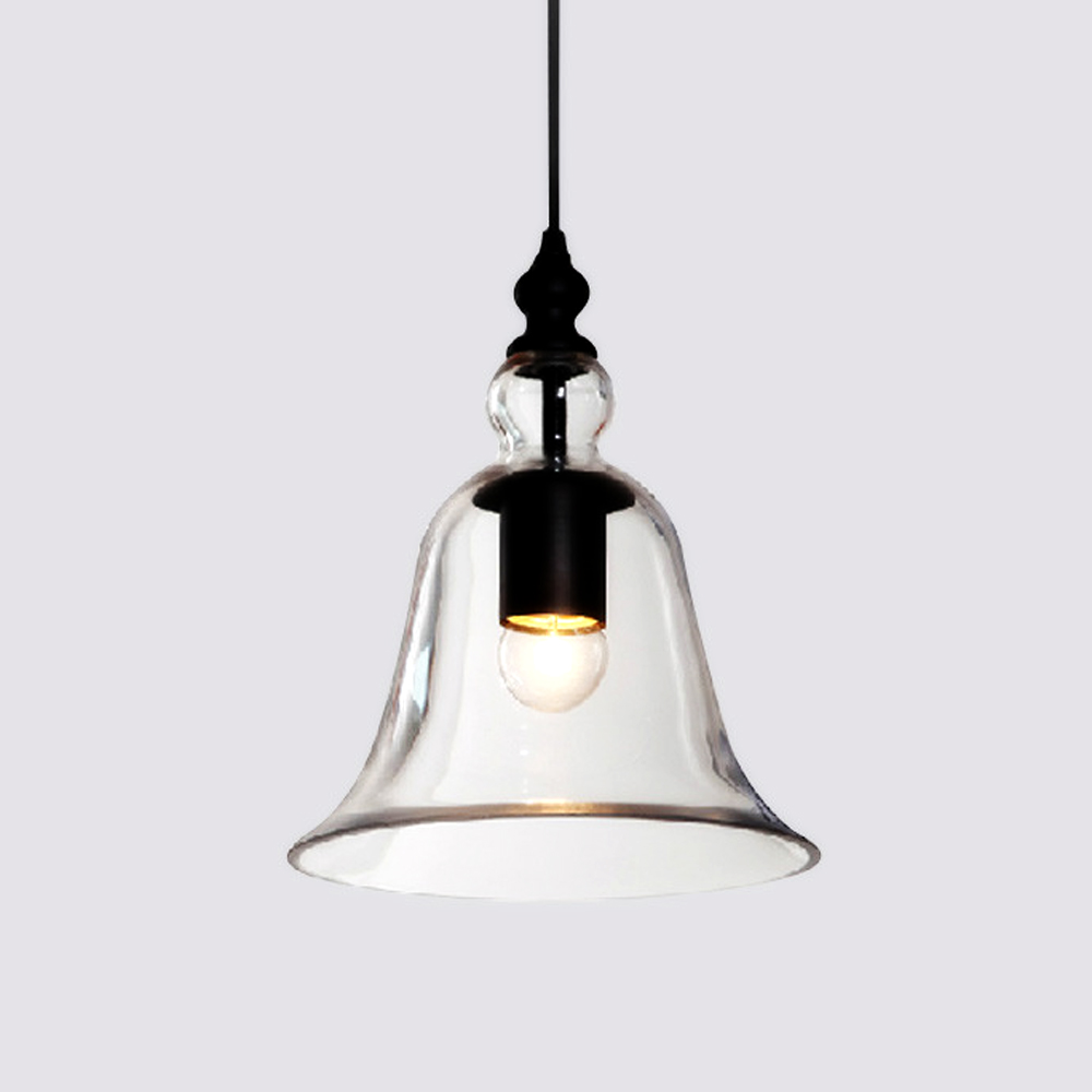 Modern pendant lights glass hanging bell pendant lamp indoor home ...