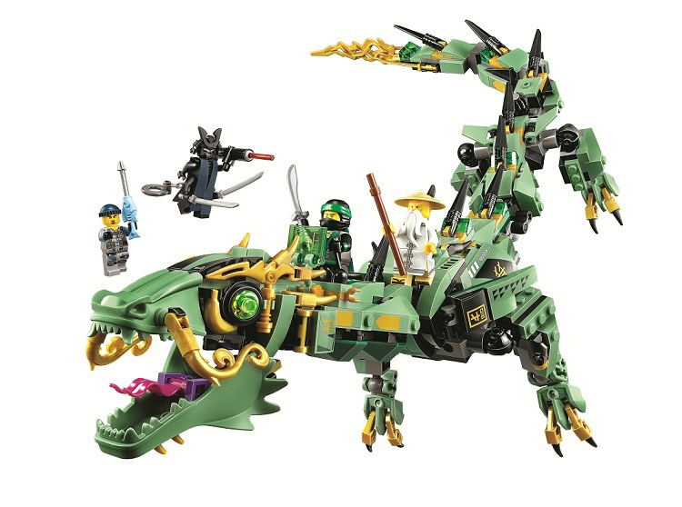 BELA Ninjagoed Green Ninja Mech Dragon Building Blocks Sets Bricks Ninja Movie Classic Model Kids Toys Marvel Compatible Legoe