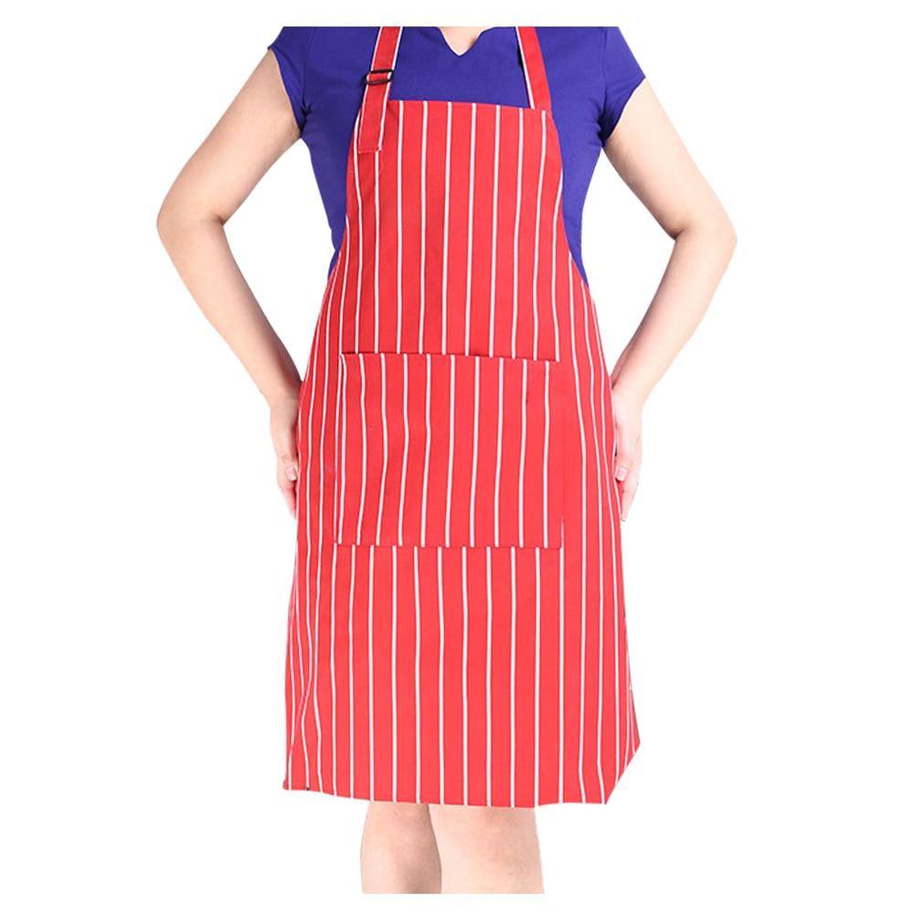 White apron cheap - Hotels Chef Waiter Halter Neck Apron Red White Stripe Halter Neck Apron China Mainland