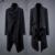 Longa Trincheira dos homens Jaqueta Corta-vento Preto Gótico Do Punk Casaco M-XXL 2016 Moda Irregular Casaco Mens Casaco de Lã Blusão