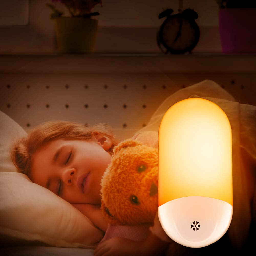 Firya LED Night Light Plug In Wall Lamp With Dusk To Dawn Sensor Remote Control Timer Night Light For Kids Baby Bedroom Hallway
