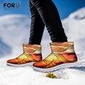 FORUDESIGNS 2015 Hombres Botas de Nieve de Marca antideslizantes Masculinos Zapatos de Invierno Cálido Botas Cortos Ocasionales Al Aire Libre Térmico