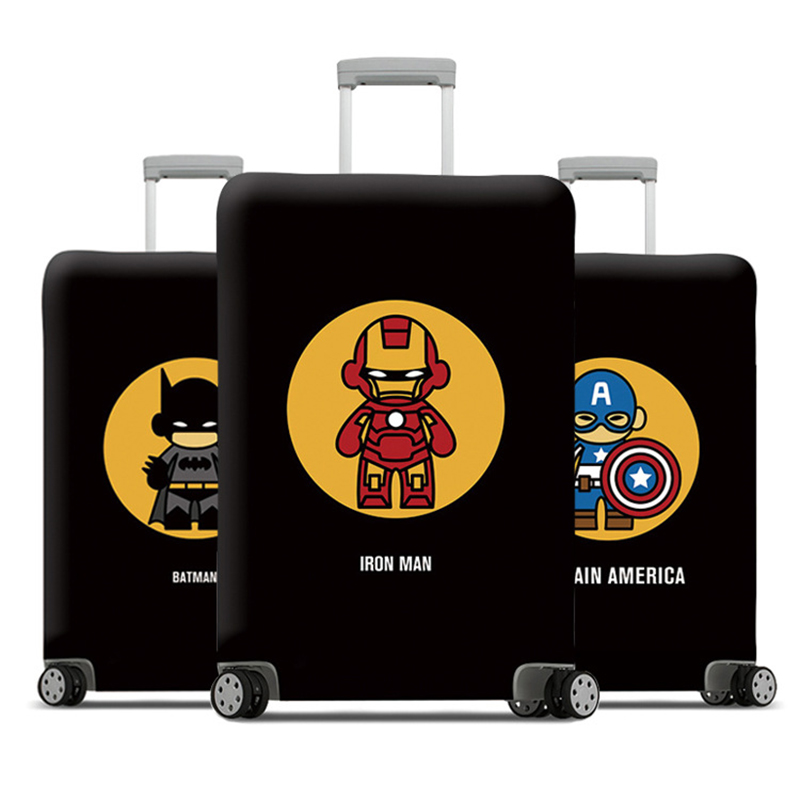 Travel Accessories Luggage Cover Suitcase Protection Set Baggage Dust Cover Trunk Set Trolley Case Elasticity Super Hero Pattern
