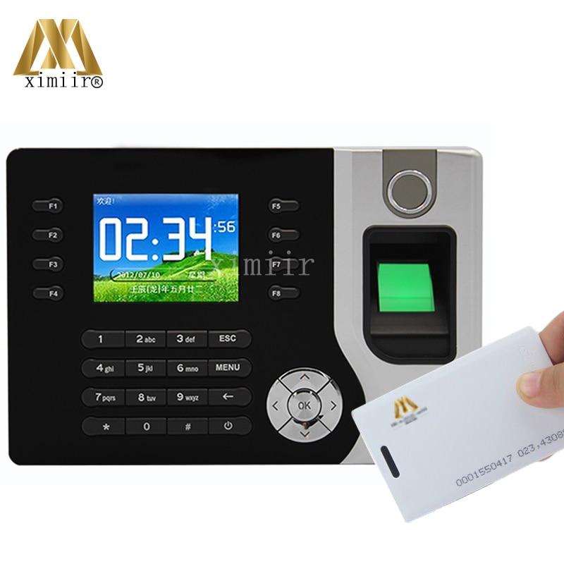 A-C071 2000 Fingerprint Templates USB U Disk TCP IP Fingerprint & Password & ID Card Time Attendance System Network Attendance
