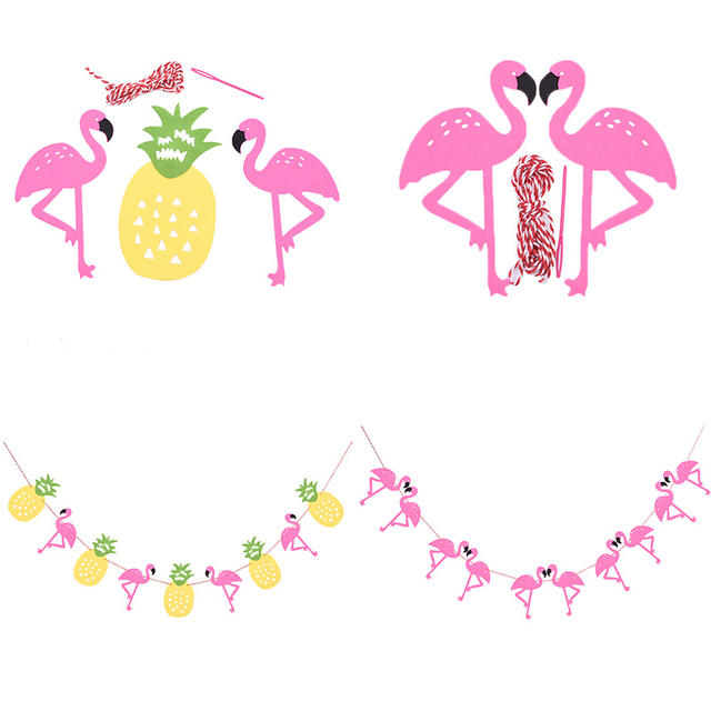 Flamingo and Pineapple Party Banner