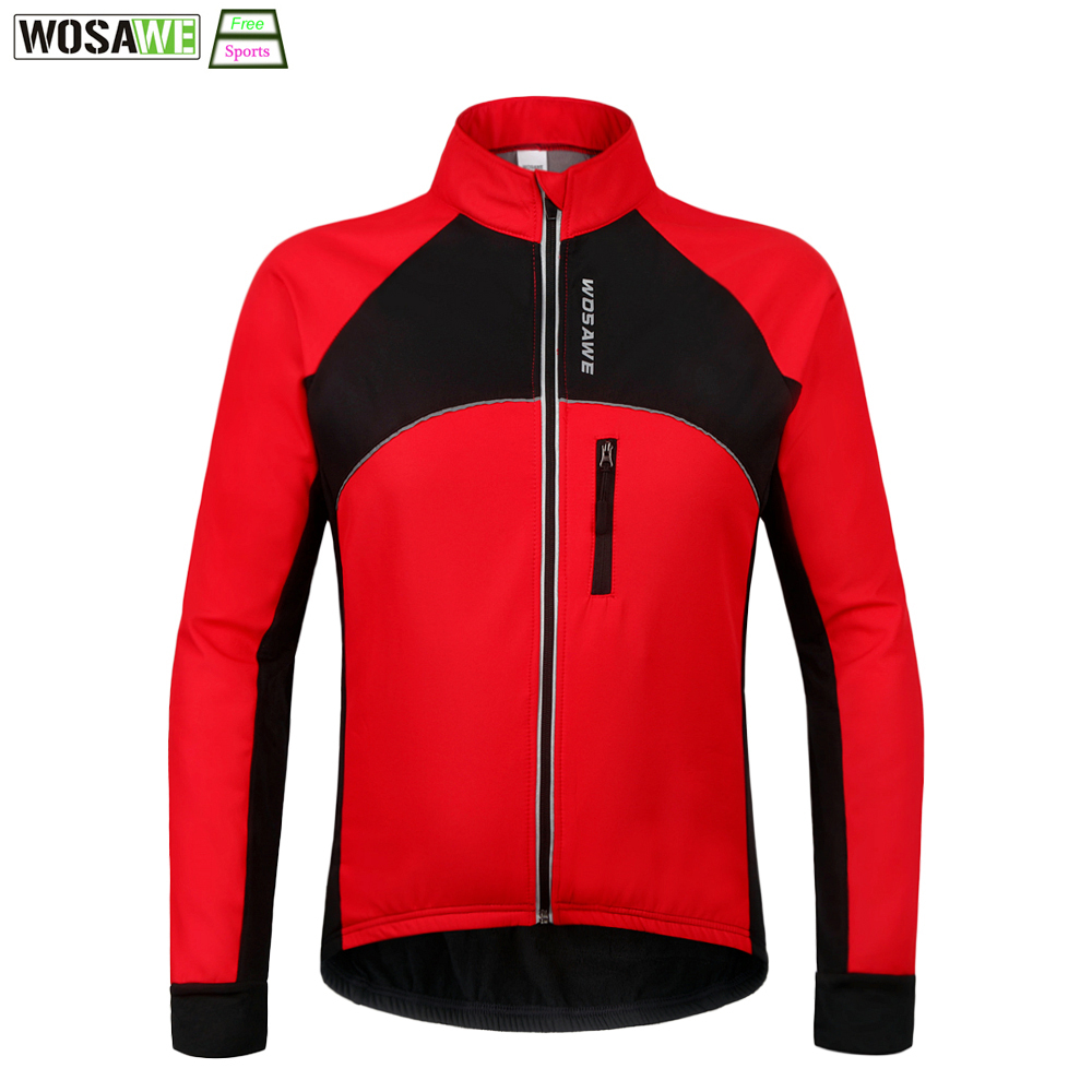 WOSAWE New Thermal Cycling Jacket Winter Warm Up Bicycle Clothing Windproof Waterproof Soft shell Coat MTB Bike Jersey lurker shark skin soft shell v4 military tactical jacket men waterproof windproof warm coat camouflage hooded camo army clothing
