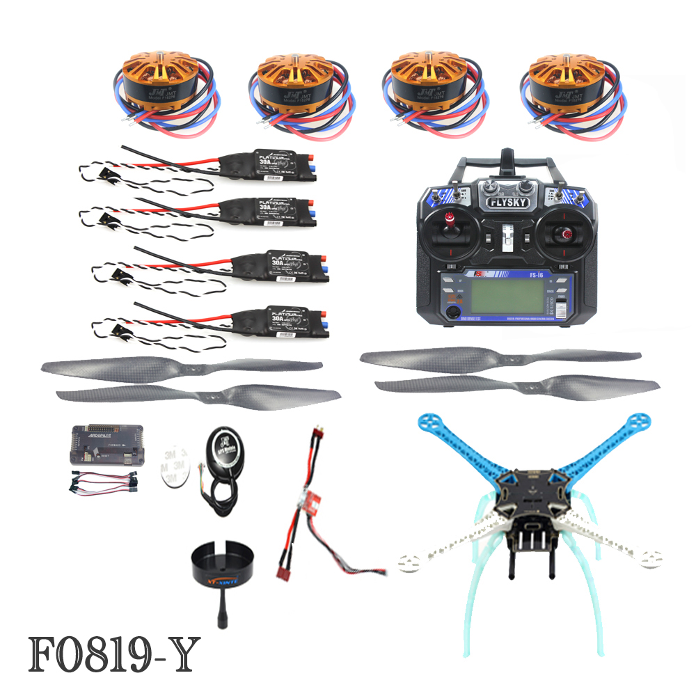 JMT 2.4G 6ch RC Quadcopter Drone 500mm S500PCB APM2.8 M8N GPS ARF/PNF No Battery Kit DIY Unassembly Brushless Motor ESC F08191-Y