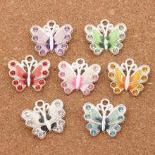 56pcs Charms 22X21mm Rhinestone