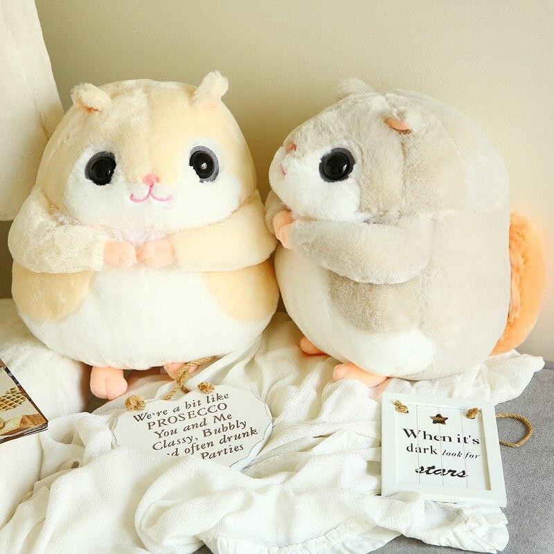 1pc 35cm Kawaii Plush Hamster Toys Stuffed Soft Plush Animals Chipmunk Mole Little Squirrel Toys Birthday Gifts Kids Girls Gift