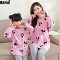 Famli Mother Dauther Pajamas Clothes Family Matching Outfits Autumn Winter Fashion Character Full Sleeve Sleepwear Pijama Sets