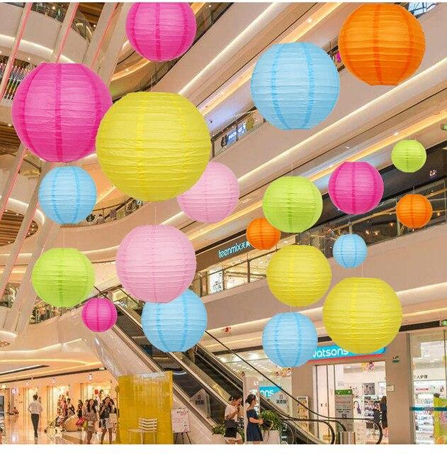 14 Inch Trung Quốc Giấy Đèn Lồng Lễ Hội Nguồn Cung Cấp Sinh Nhật Wedding Party Trang Trí trang trí nội thất thủ công quà tặng DIY Đèn Cốc Treo Đèn Lồng