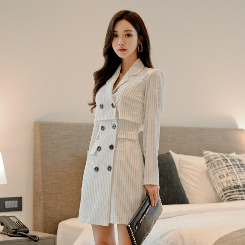 Anzüge & Sets Hodisytian Herbst Mode Blazer Für Frauen Casual Plaid Anzüge Elegante Weibliche Chic Jacke Oberbekleidung Lange Hülse Blaser Plus Größe