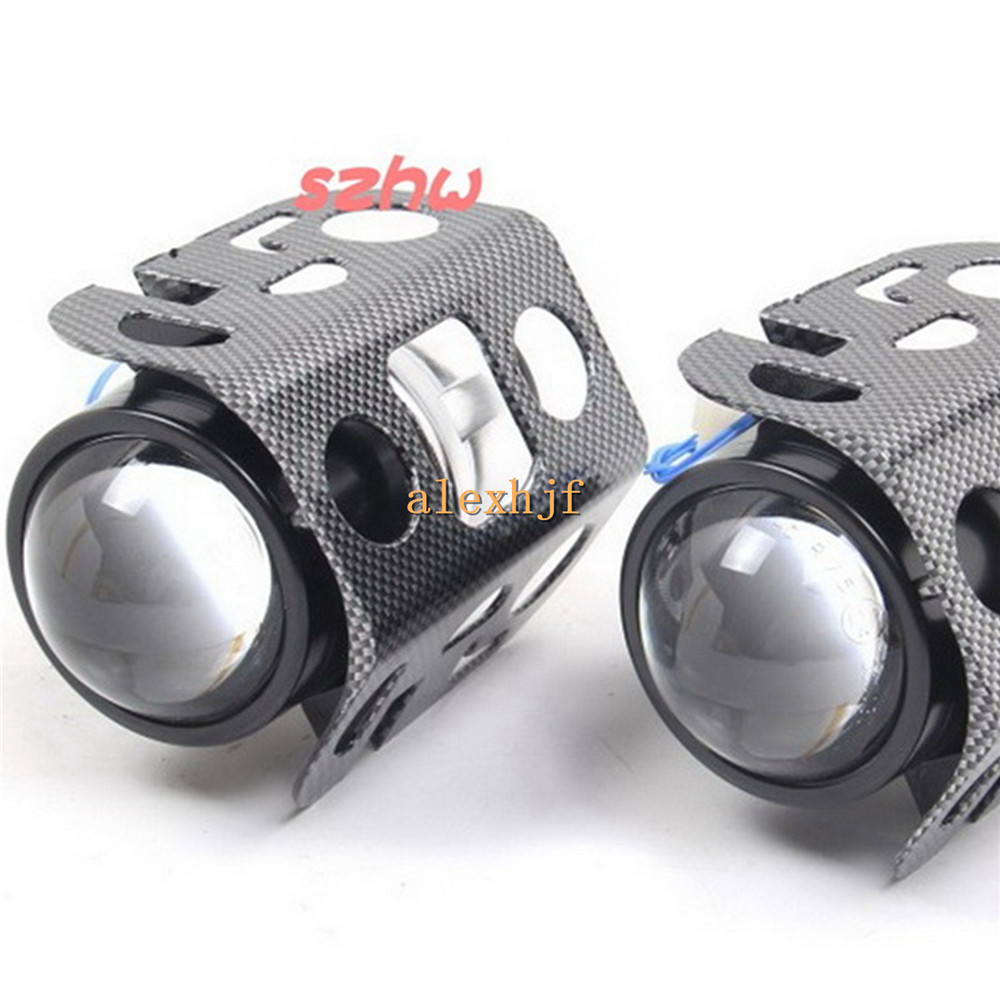 July King Car Unversal Bifocal Lens Headlight, 64mm Outside Diameter, SUV Bifocal Lens Fog Lamp Assembly, Support H11 HID Xenon