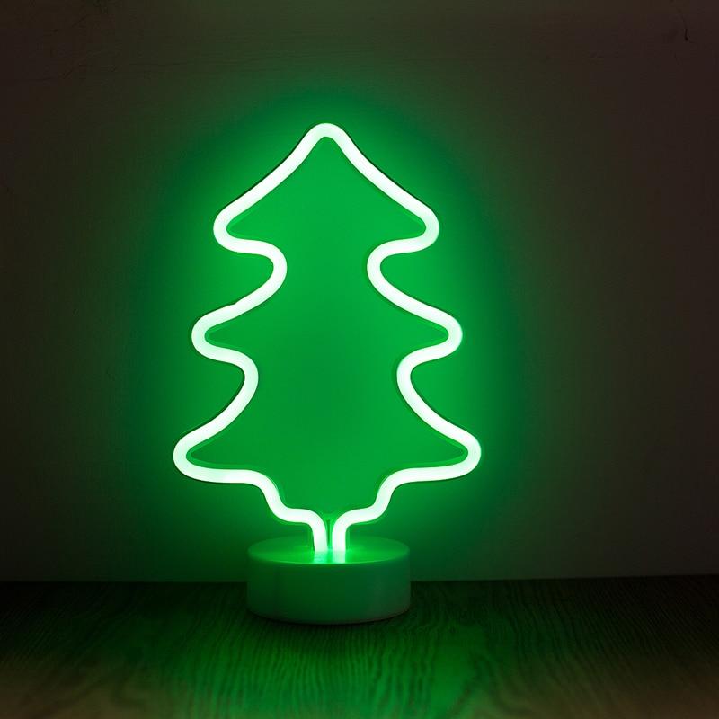 Ropio Abajur Veilleuse Lampe De Bureau Led Neon Cactus Ananas Arbre