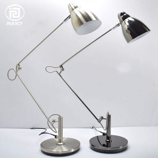 American style simple long arm led desk lamp office computer design eye reading bedroom drawing metal