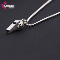 COREOPSIS Necklaces Pendants 925 Stering Silver Thai Silver jewelry Individuality Simple Smooth Skull Head Necklace Pendants