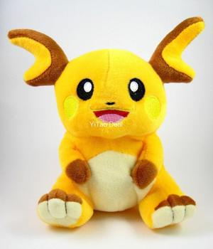 Free shipping Raichu Doll Around 18cm 7 Plush Toy