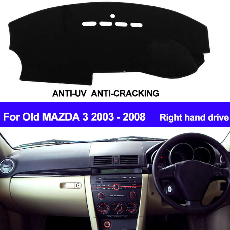 TAIJS RHD Car Dashboard Cover Dash Mat For Mazda 3 M3 BK 2004 2005 2006 2007 2008 Auto Dash Board Cover Sun Shade DashMat Pad