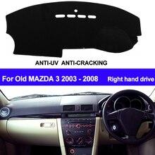 TAIJS RHD Car Dashboard Cover Dash Mat For Mazda 3 M3 BK 2004 2005 2006 2007 2008 Auto Dash Board Cover Sun Shade DashMat Pad