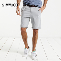 SIMWOOD 2017 Summer New Casual Shorts Men Cotton Plaid Knee Length Trouser Slim Fit Brand Clothing