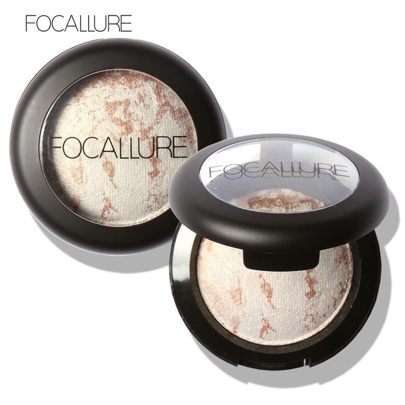 10 Colors Baked Eyeshadow Eye shadow Palette in Shimmer Metallic Eyes Makeup by Focallure