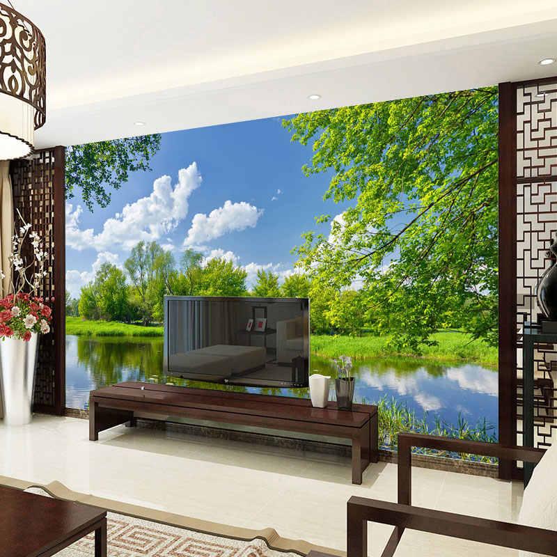 사용자 정의 사진 벽지 아름 다운 호수 풍경 3d 벽 벽화 거실 침실 배경 벽 홈 장식 papel de parede sala
