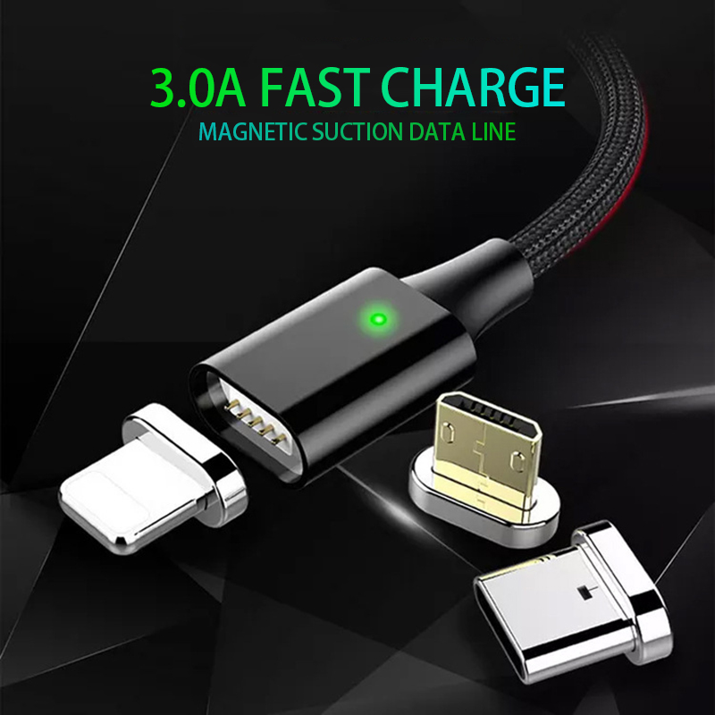 Magnetic Charge Cable Lighting For IPhone X 8 XS XR Fast Charger Micro USB Type C For Samsung S9 Data Line For Huawei Xiaomi