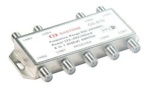 1 шт./лот GS-81S 8 в 1 DiSEqC переключатель Спутники FTA ТВ LNB коммутатор