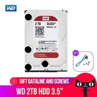Western Digital WD Red NAS Hard Disk Drive 2TB 3TB 4TB 6TB 8TB 10TB 5400 RPM Class SATA 6 GB/S 64MB Cache 3.5 Inch Decktop Nas