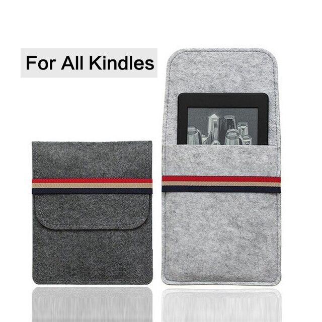 Para 2018 Kindle 10 generación funda de fieltro para Amazon Paperwhite 1/2/3 bolsa para Kindle 8 a 6 pulgadas funda para Tablet