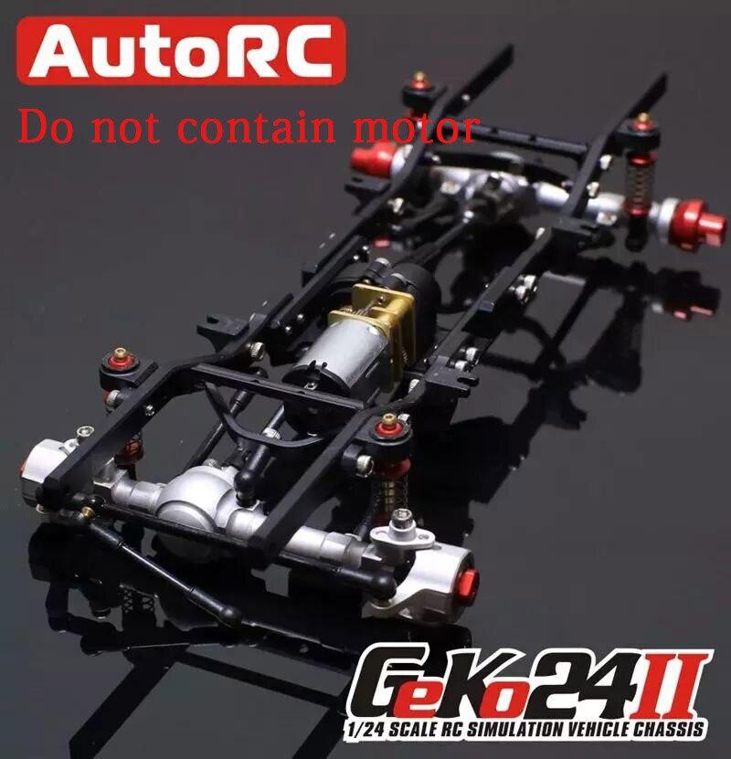 AutoRC 1/24 GK24 v2 KIT de cadre d'escalade de simulation en métal complet assembler escalade RC pièces de voiture Version assemblé voiture télécommandée