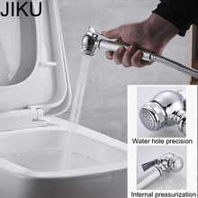 JIKU Modern Shower Nozzle Pressure Small Copper Hand Shower Bidet Toilet Spray Cleaning Bidet Flushing Device Bathroom Faucet все цены